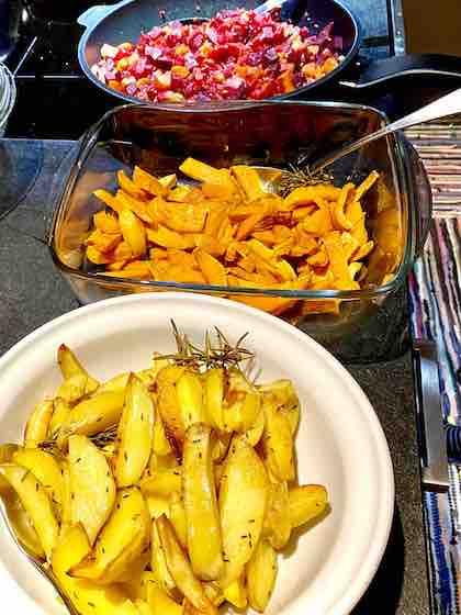 Kartoffeln und Gemüse bei Gicht
