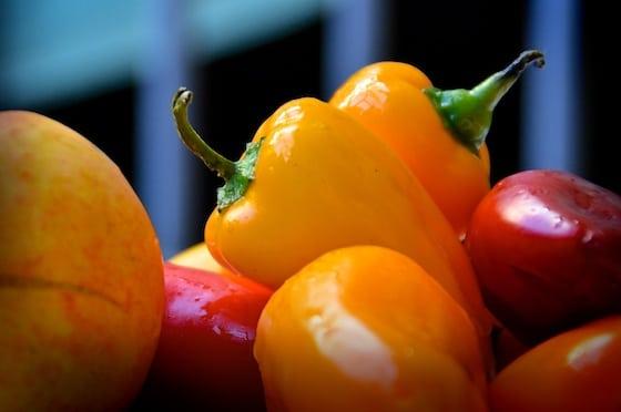 Gelbe und rote Paprika