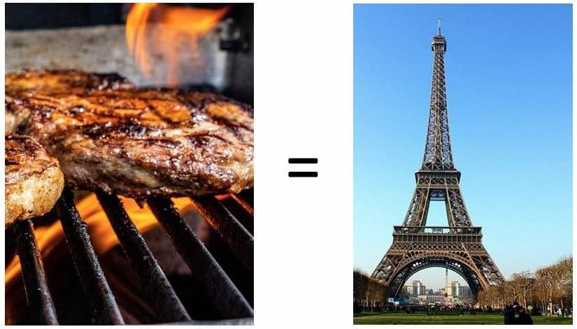 Steak und Eiffelturm